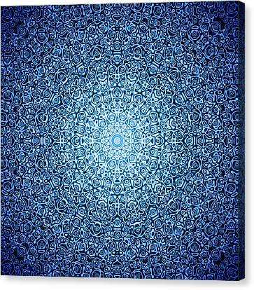 Dark Blue Quasicrystal Canvas Print by Dan Gries