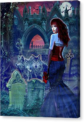 Dark Bride Canvas Print by Andrew Farley