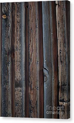 Canvas Print - Dark Brown Wood Texture by Sheri Van Wert