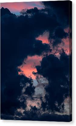 Dark Clouds  And Colorful Sky Canvas Print