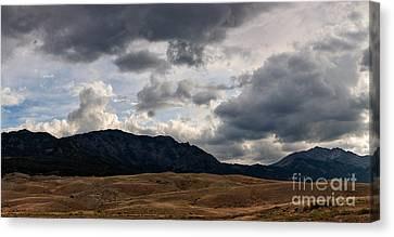 Dark Clouds On The Horizon Canvas Print by Charles Kozierok