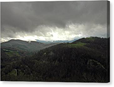 Dark Clouds Over Cashiers Canvas Print