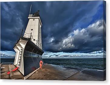 Dark Clouds Canvas Print by Sebastian Musial