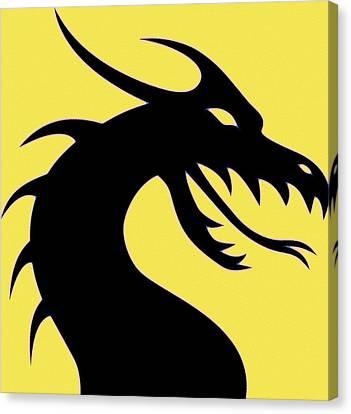 Breathing Canvas Print - Dark Dragon by Florian Rodarte