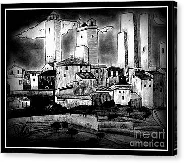 Dark Effect Canvas Print by Mylene Le Bouthillier