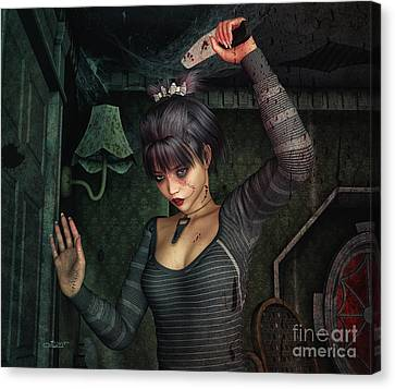 Dark Fantasies Canvas Print by Jutta Maria Pusl
