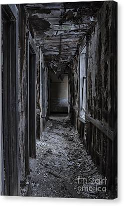 Dark Halls Canvas Print by Margie Hurwich
