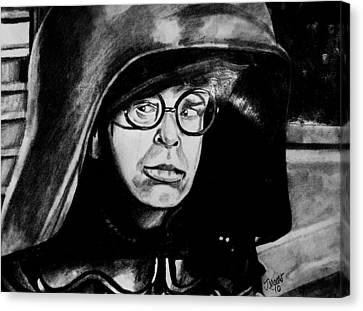 Dark Helmet Canvas Print by Jeremy Moore