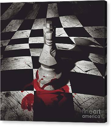 Dark Knight Of The Grand Chessboard Canvas Print