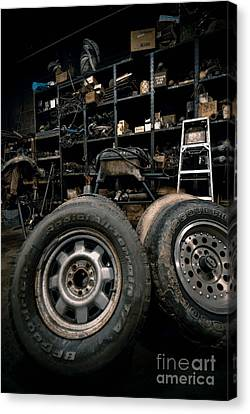 Dark Old Garage Canvas Print by Amy Cicconi