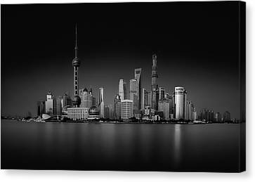 Dark Pudong Canvas Print