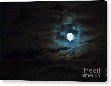 Dark Rising Canvas Print by Andrew Paranavitana