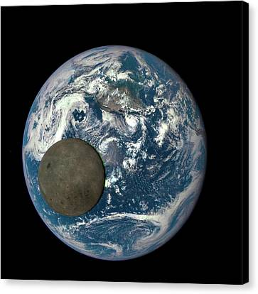 Dark Side Of The Moon Canvas Print by Nasa/ Dscovr Epic Team