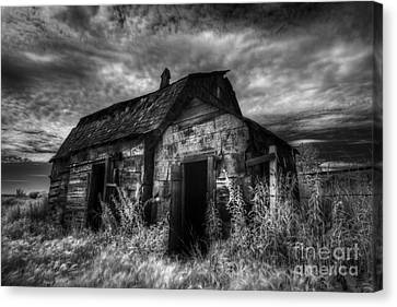 Dark Skies On The Prairie Canvas Print by Dan Jurak