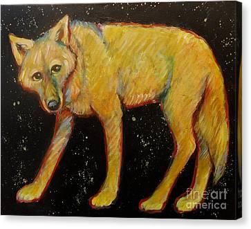 Dark Sky Coyote Canvas Print