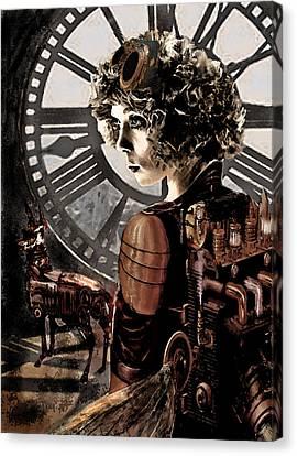 Dark Steampunk Canvas Print by Jane Schnetlage