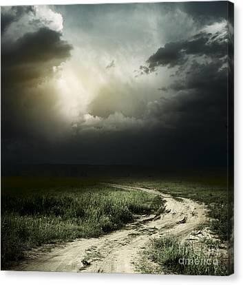 Dark Storm Cloud Canvas Print by Boon Mee