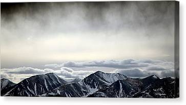 Canvas Print featuring the photograph Dark Storm Cloud Mist  by Barbara Chichester