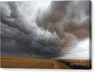 Dark Storm Clouds Canvas Print by Boon Mee