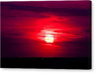 Canvas Print featuring the photograph Dark Sunset by Julie Andel