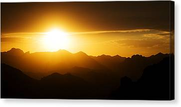 Dark Sunset Over The Matzatzals Canvas Print
