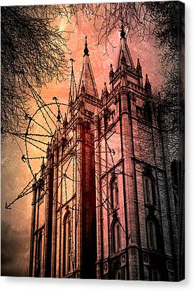 Canvas Print featuring the photograph Dark Temple by Jim Hill