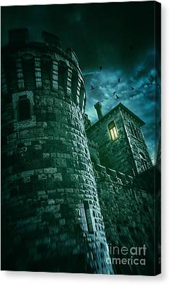 Dark Tower Canvas Print by Carlos Caetano