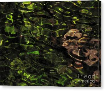Dark Watery Green Canvas Print