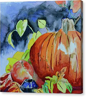 Canvas Print featuring the painting Darkening by Beverley Harper Tinsley