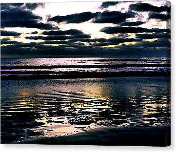 Darkness Can Only Be Scattered By Light Canvas Print by Sharon Soberon