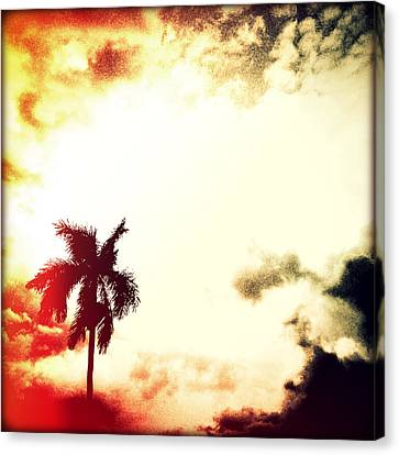Darkness Moving In Sunset Canvas Print by Chris Andruskiewicz