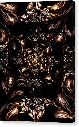 Canvas Print featuring the digital art Darkness Will Come by Lea Wiggins