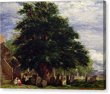 Headstones Canvas Print - Darley Churchyard by David Cox