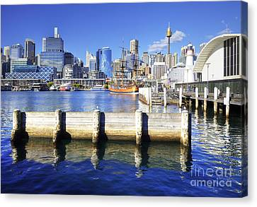 Darling Harbour Sydney Australia Canvas Print by Colin and Linda McKie