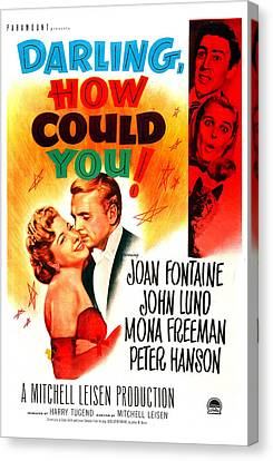 Darling, How Could You, Us Poster, Left Canvas Print by Everett