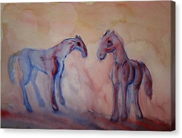 Darling I Feel So Blue It Must Be My Melancholia  Canvas Print by Hilde Widerberg