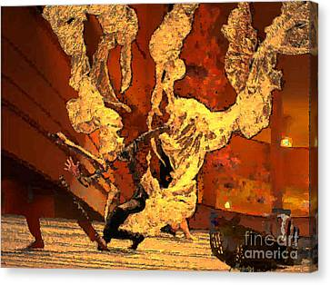 Canvas Print featuring the digital art Darling Save The Last Waltz For Me by Mojo Mendiola