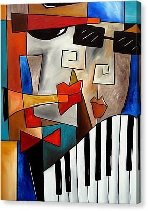 Darned Tootin - Original Cubist Art By Fidostudio Canvas Print by Tom Fedro - Fidostudio