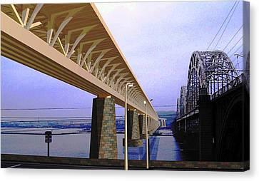 Darnitsky Bridge Canvas Print