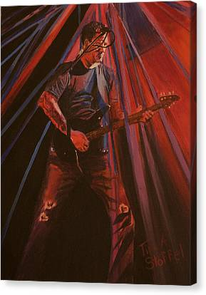 Darrell Mitchell Of Recoil Canvas Print by Tina Stoffel