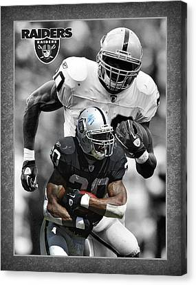 Darren Mcfadden Raiders Canvas Print by Joe Hamilton