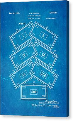 Darrow Monopoly Board Game 2 Patent Art 1935 Blueprint Canvas Print by Ian Monk