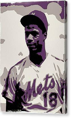 San Francisco Giants Canvas Print - Darryl Strawberry Poster Art by Florian Rodarte