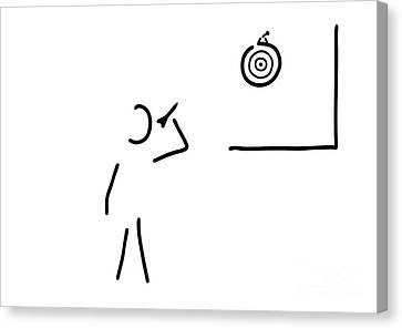 Dart Player Target Throw Arrow Canvas Print