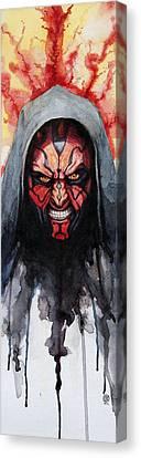 Darth Maul Canvas Print by David Kraig