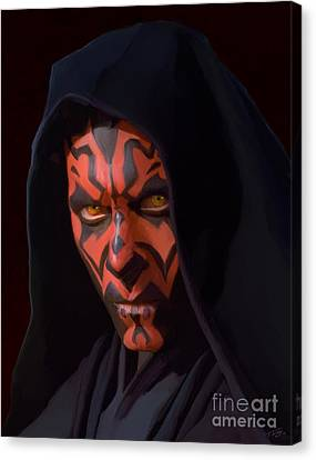 Darth Maul Canvas Print by Paul Tagliamonte