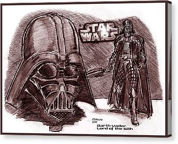 Darth Vader Lord Of The Sith Canvas Print by Chris  DelVecchio