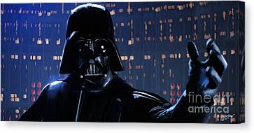 Shower Canvas Print - Darth Vader by Paul Tagliamonte