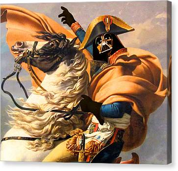 Darth Vader Star Wars Napoleon Painting Canvas Print by Tony Rubino