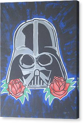 Darth Vader Tattoo Art Canvas Print by Gary Niles